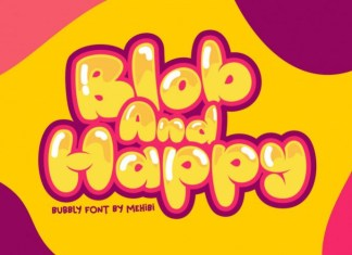 Blob And Happy Font