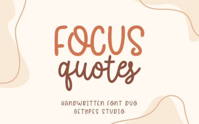 Focus Quotes Font
