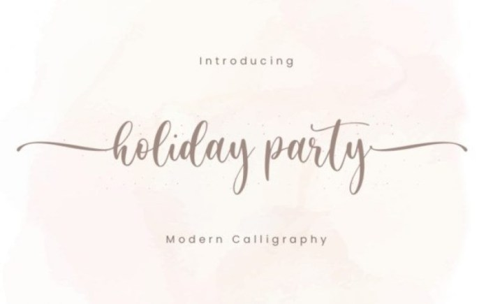 Holiday Party Font