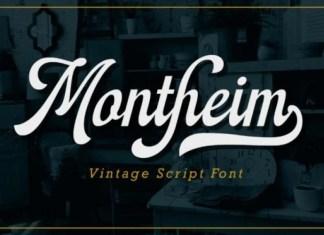 Montheim Font