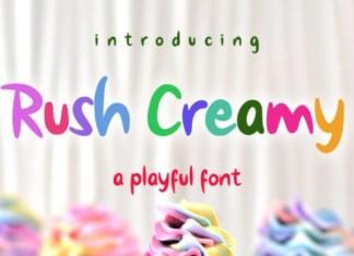 Rush Creamy Font