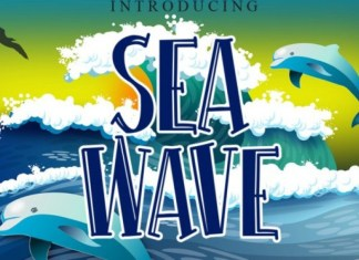 Sea Wave Font