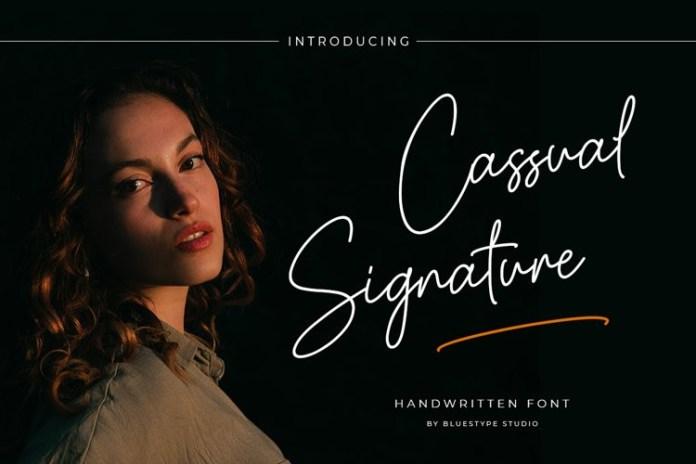 Cassual Signature Font