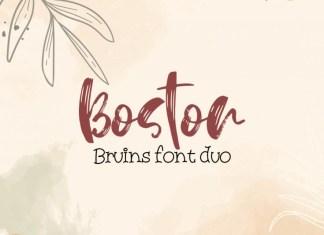 Boston Druins Font