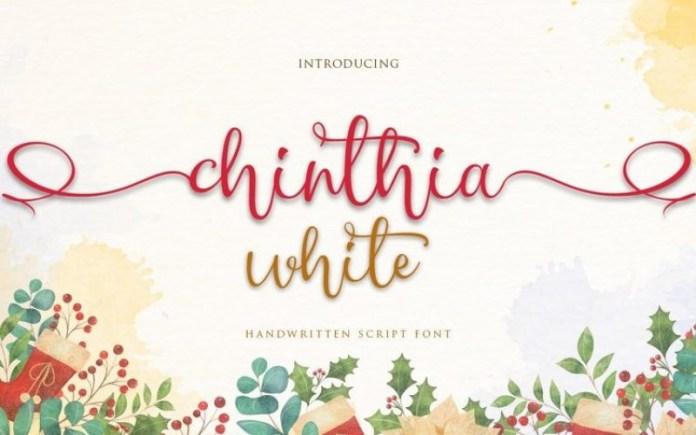Chinthia White Font