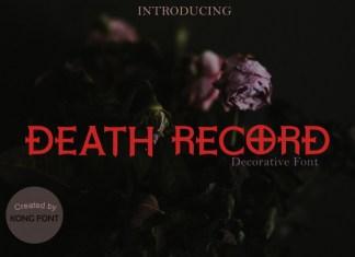 Death Record Font
