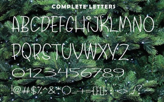 Christmas Santaclaus Font