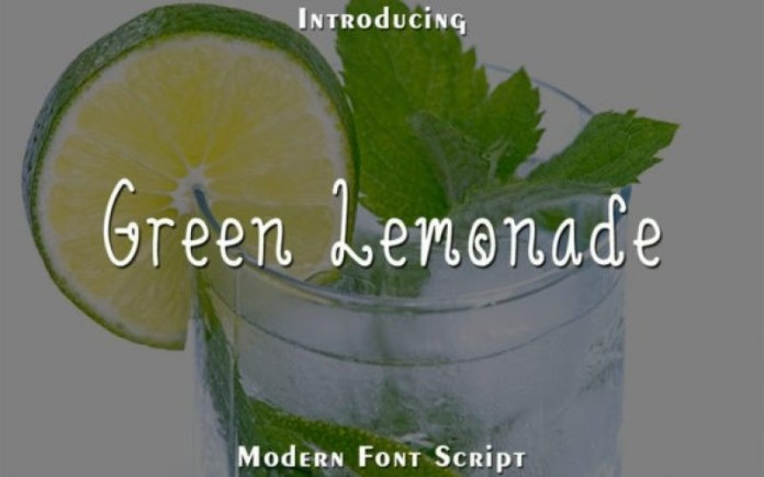 Green Lemonade Font