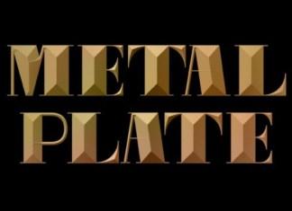Metal Plate Font