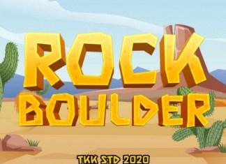 Rock Boulder Font