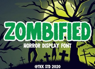 Zombified Horror Font