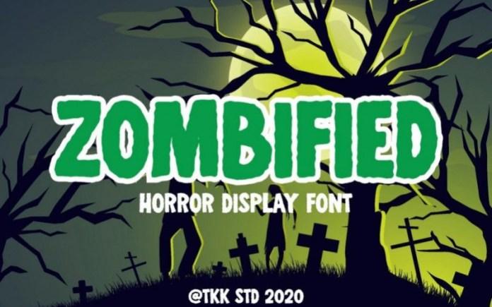 Zombified Horror Font