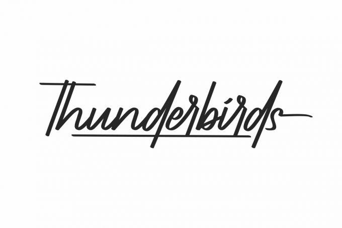 Thunderbirds Font