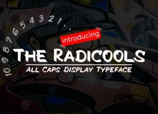 The Radicools Italic Font