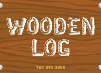 Wooden Log Font
