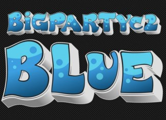 Big PartyC2 Blue Font