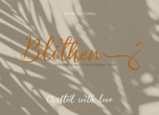 Blithen Font
