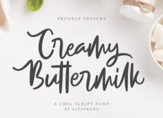 Creamy Buttermilk Font