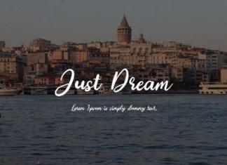 Just Dream Font