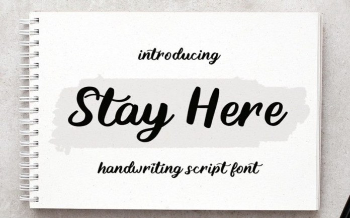 Stay Here Font
