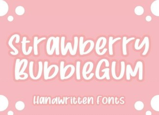 Strawberry Bubblegum Font