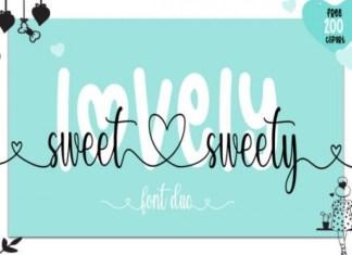 Lovely Sweet Sweety Font
