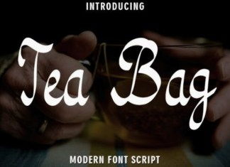 Tea Bag Font