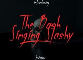 The Bash Singing Slashy Font