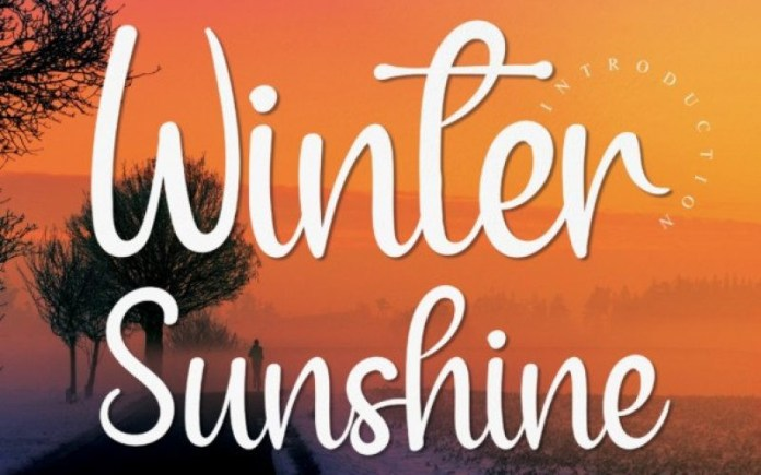 Winter Sunshine Font
