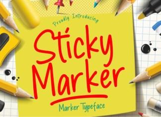 Sticky Marker Font