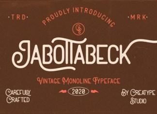 Jabottabeck Font
