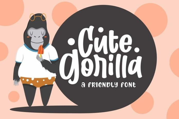 Cute Gorilla Font