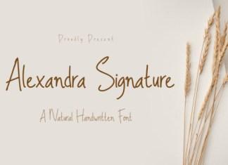 Alexandra Signature Font