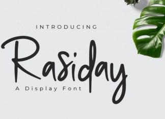 Rasiday Font