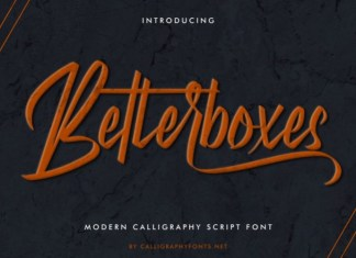 Betterboxes Font