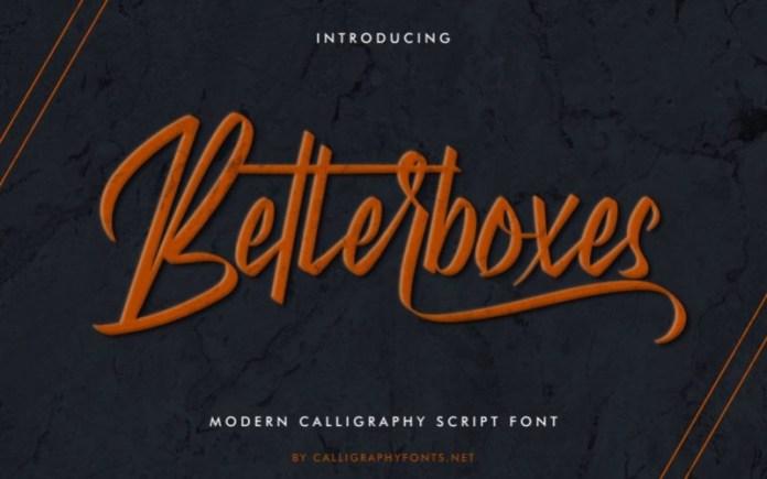 Betterboxes Font