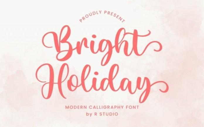 Bright Holiday Font