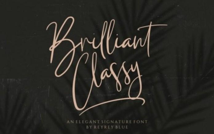 Briliant Classy Font