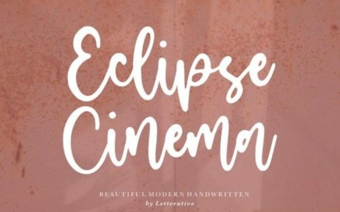 Eclipse Cinema Font