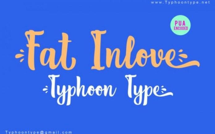 Fat Inlove Font