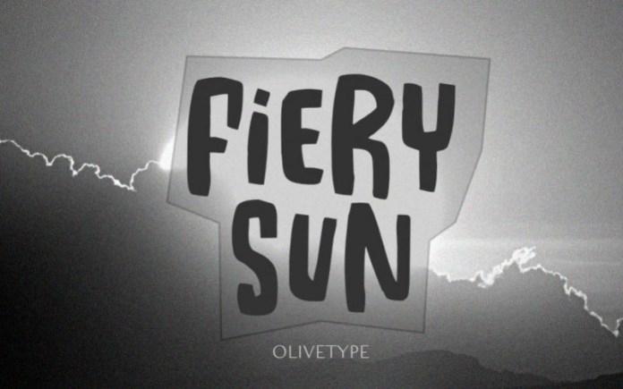 Fiery Sun Font