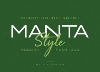 Manta Style Font