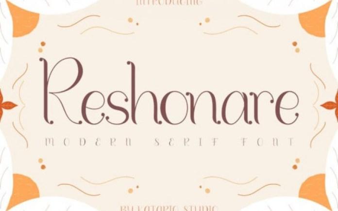 Reshonare Font