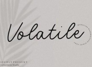 Volatile Font