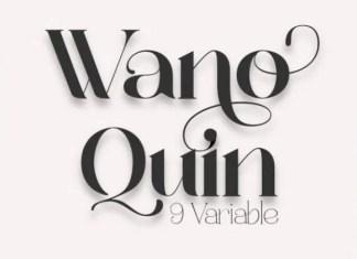 Wano Quin Font