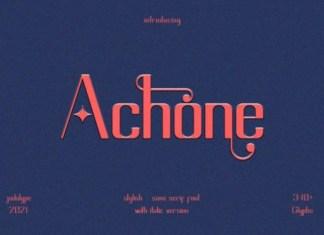 Achone Font