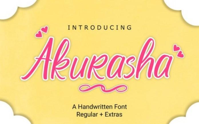 Akurasha Font