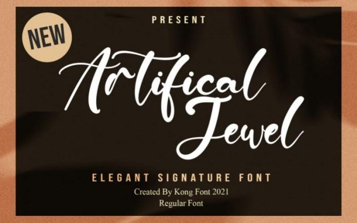 Artificial Jewel Font