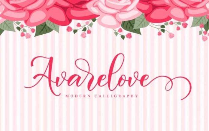 Avarelove Font
