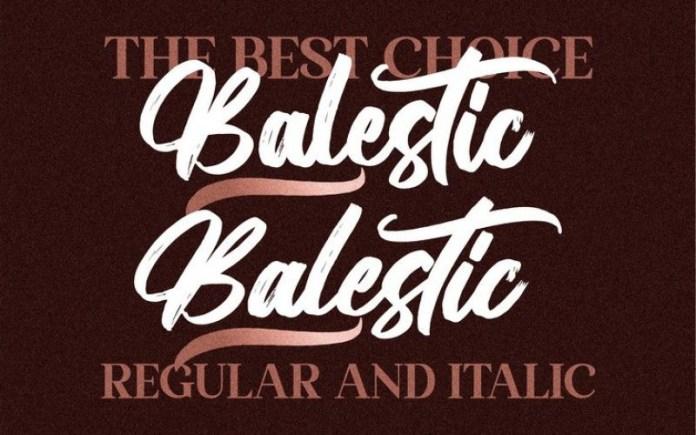 Balestic Font